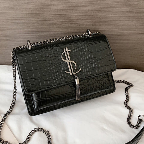 Crocodile Pattern Luxury Women Handbags Famous Brand