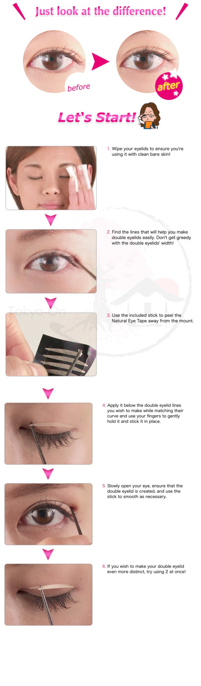 Tokyo-On AB Automatic Beauty Natural Eyelid Tape 80 Pcs