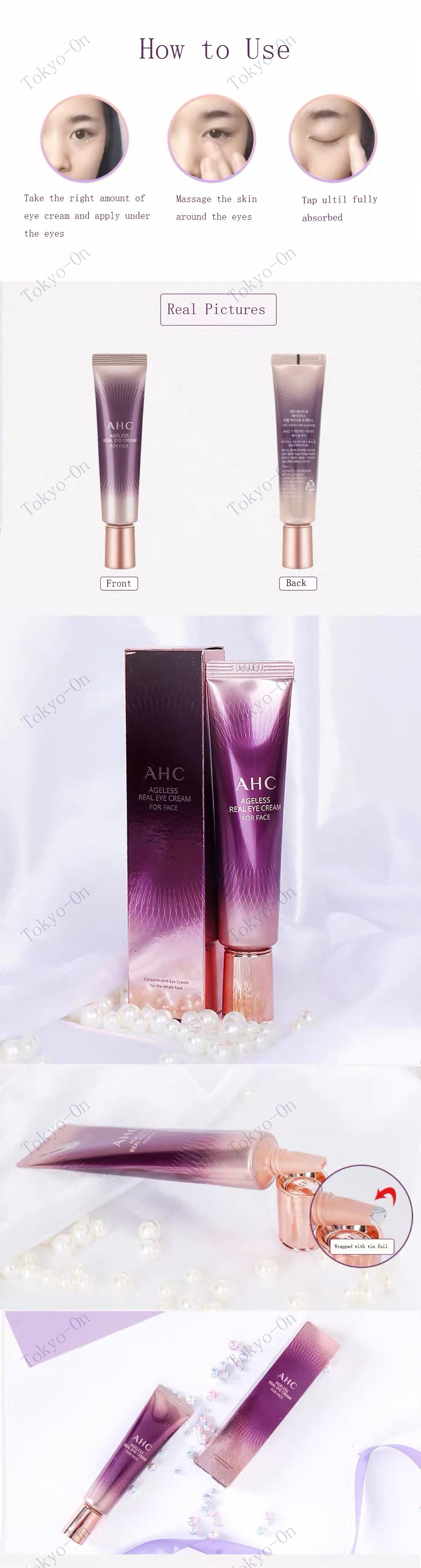 Tokyo-On  AHC Ageless Eye Cream For Face 30ml
