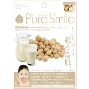 SunSmile Pure Smile Soybean Essence Facial Mask - Tokyo-On