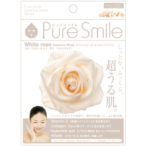 SunSmile Pure Smile White Rose Essence Facial Mask - Tokyo-On