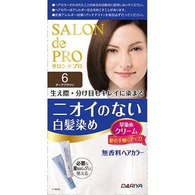 Dariya Salon De Pro Hair Dye Non-Smell #6 Dark Brown - Tokyo-On