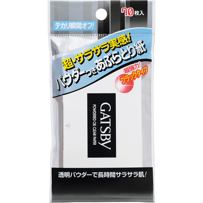 Mandom Gatsby Charcoal Oil Clear Paper 70 Sheets - Tokyo-On