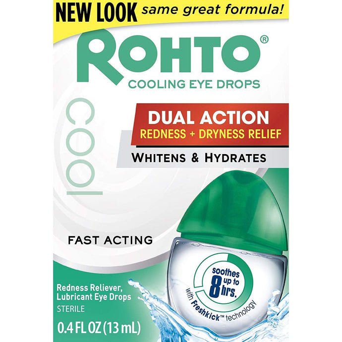Rohto Cool Dual Action Redness & Dryness Relief Eye Drops 13ml - Tokyo-On
