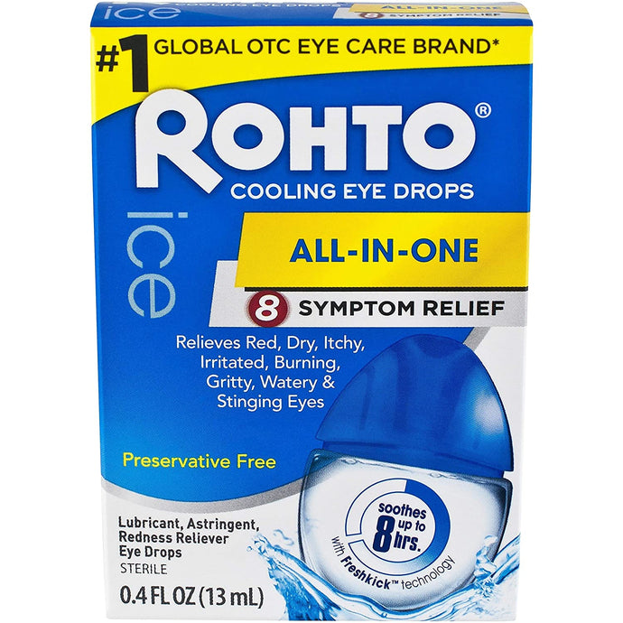 Rohto Cool Multi Symptom Relief Eye Drops 13ml - Tokyo-On