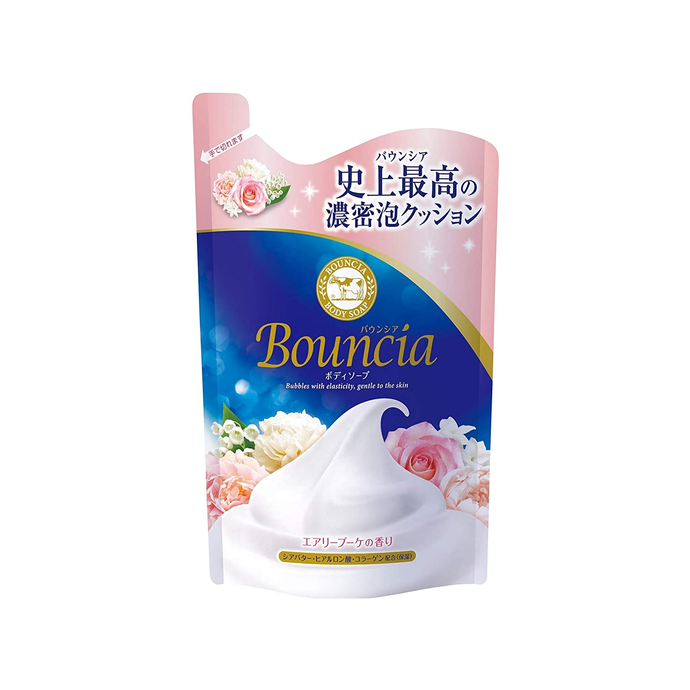 Bouncia Airy Bouquet Body Soap Rose Scent Refill 400ml - Tokyo-On