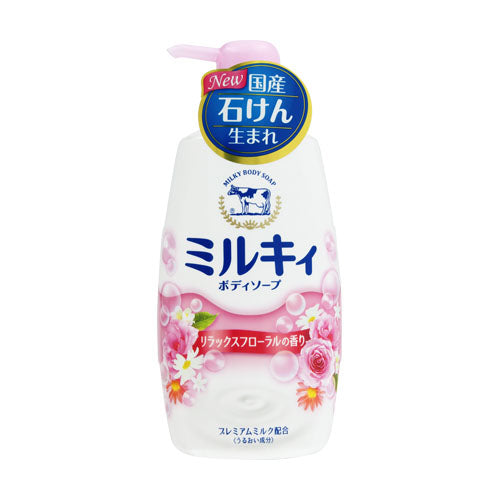Gyunyu Cow Brand Deluxe Floral Body Soap 550ml - Tokyo-On