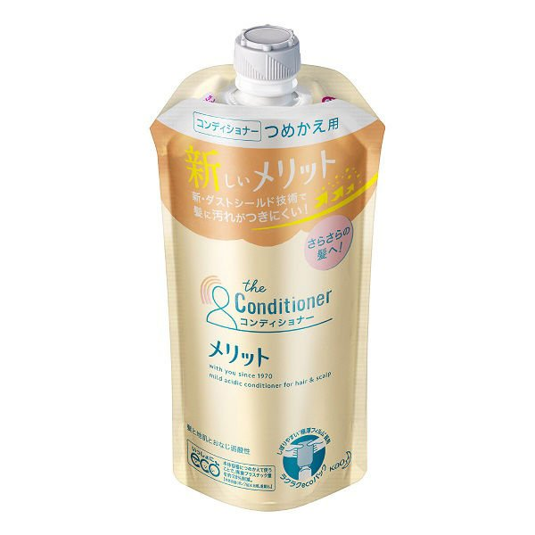 Kao Merit Hair Conditioner Refill 340ml - Tokyo-On