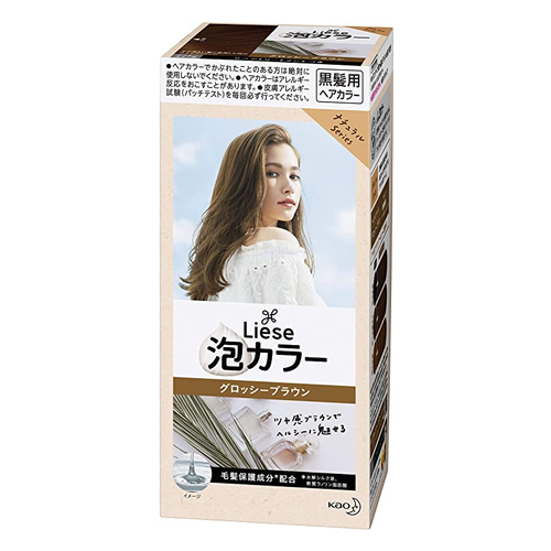Kao Liese Prettia Bubble Color Hair Dye #Glossy Brown - Tokyo-On
