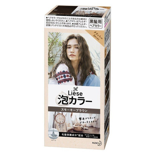 Kao Liese Prettia Bubble Color Hair Dye #Smoky Brown - Tokyo-On