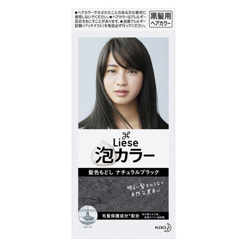 Kao Liese Prettia Bubble Color Hair Dye #Natural Black - Tokyo-On