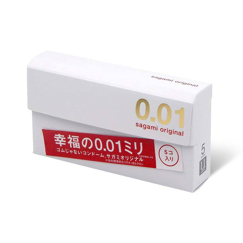 Sagami Ultra Thin Original 0.01mm Condoms, 5/Pack - Tokyo-On