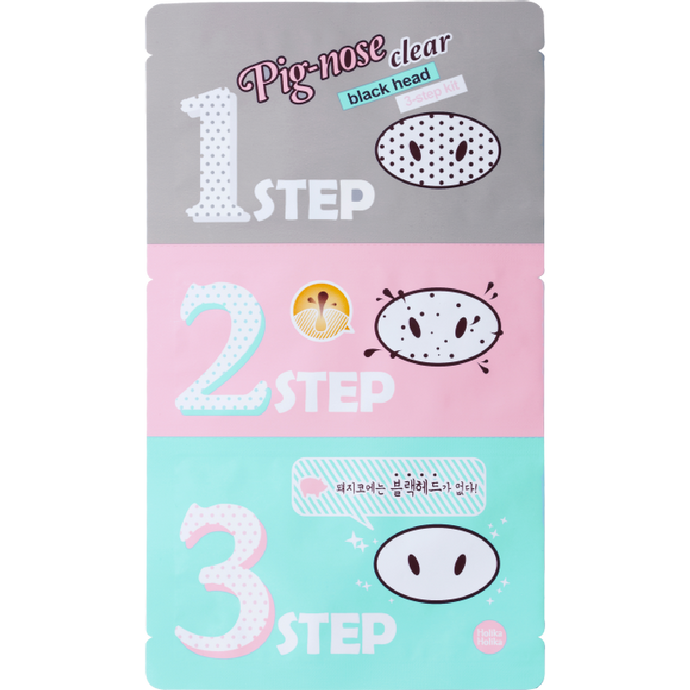 Holika Holika Pig-Nose Clear Blackhead 3-Step Kit, 1 Piece - Tokyo-On