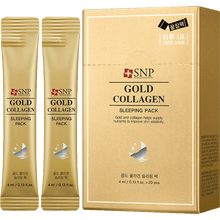 Load image into Gallery viewer, SNP Gold Collagen Sleeping Pack, 20 Sheets - Tokyo-On