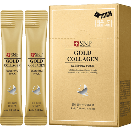 SNP Gold Collagen Sleeping Pack, 20 Sheets - Tokyo-On