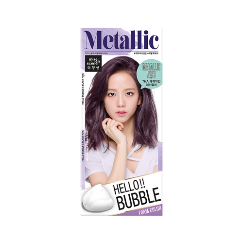 Mise En Scene Hello Bubble Hair Dye #7MA Metallic Ash - Tokyo-On