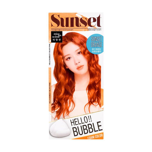Mise En Scene Hello Bubble Hair Dye #8S Sunset Orange - Tokyo-On