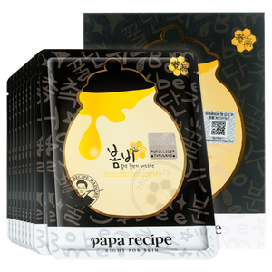 Papa Recipe Bombee Black Honey Mask, 10 Sheets - Tokyo-On