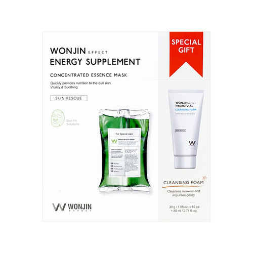 Wonjin Effect Energy Infusion Mask & Facial Wash, (10 Sheets + 80ml) - Tokyo-On