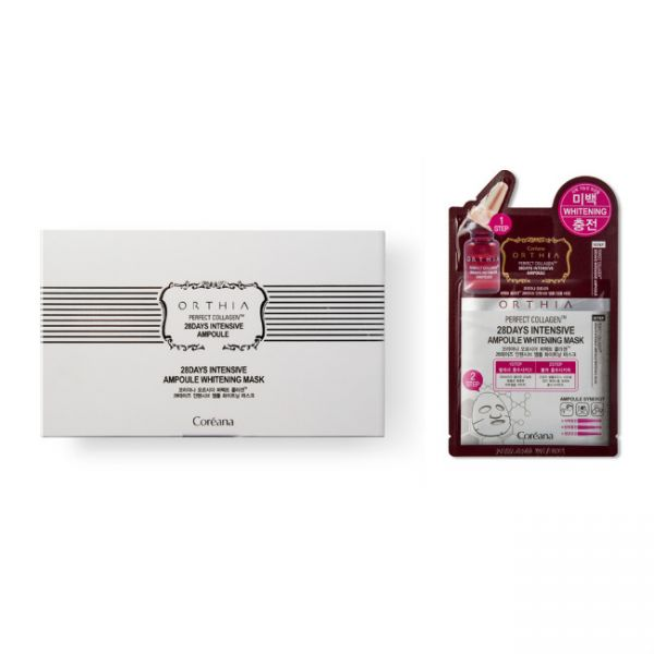 Coreana Orthia Perfect Collagen 28 Days Intensive Ampoule Mask, 10 Sheets - Tokyo-On