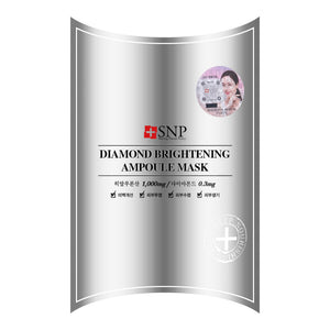 SNP Diamond Brightening Ampoule Moisture Mask, 10 Sheets - Tokyo-On