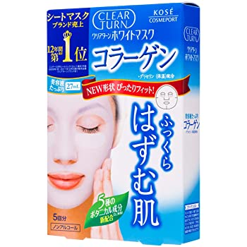 Kose Clear Turn Collagen Mask 5 Sheets - Tokyo-On