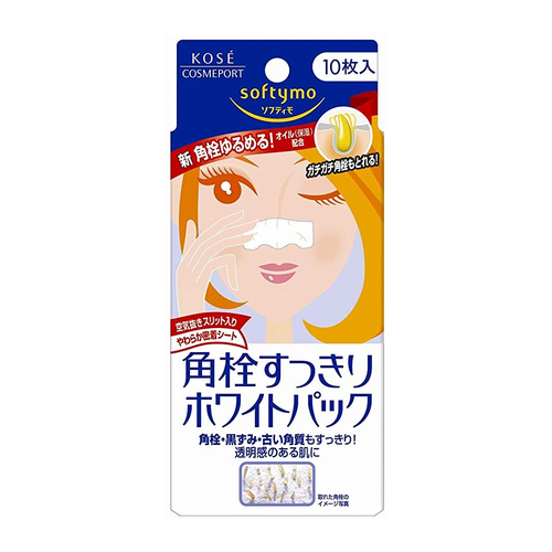 Kose Softymo Nose Pore Cleansing White Pack 10 Sheets - Tokyo-On