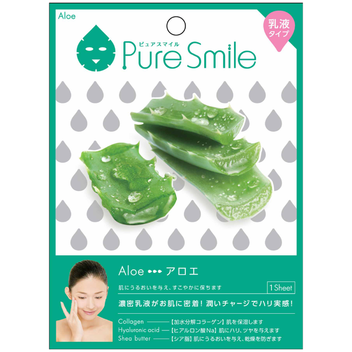 SunSmile Pure Smile Milk Essence Facial Mask Aloe
