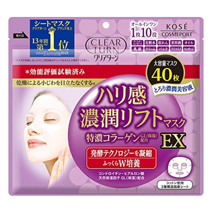 Kose Clear Turn Rich Moisture Facial Lift Mask EX 40 Sheets