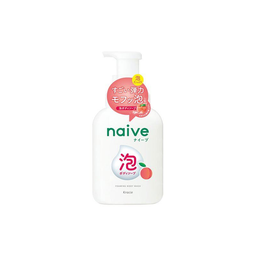 Kracie Naive Peach Leaf Foaming Body Wash 500ml - Tokyo-On