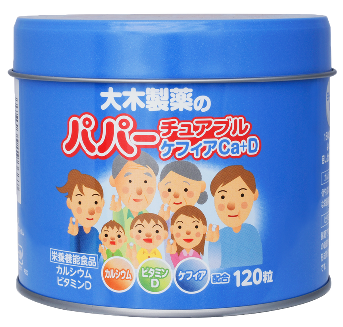 Daiki Papa Chewable Kefir Calcium & Vitamin 120 Pcs
