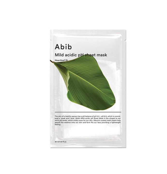 Abib Heartleaf Fit Mild Acidic Ph Sheet Mask