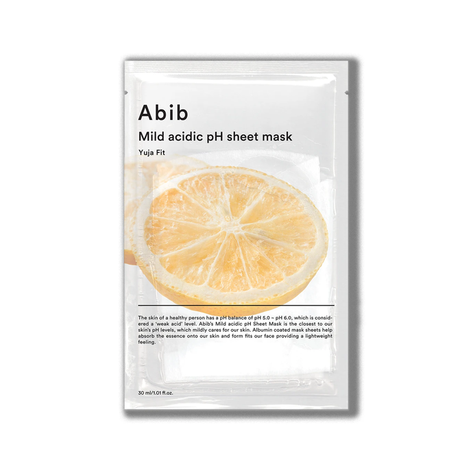 Abib Mild Acidic pH Sheet Mask Fit (Yuja)