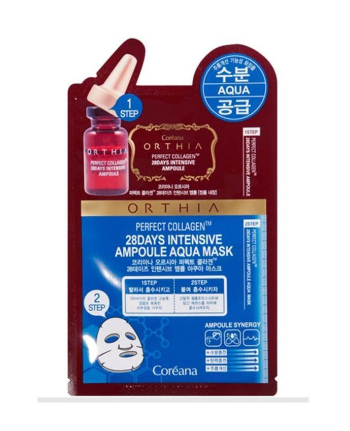 Coreana Orthia Perfect Collagen 28 Days Intensive Ampoule Aqua Mask