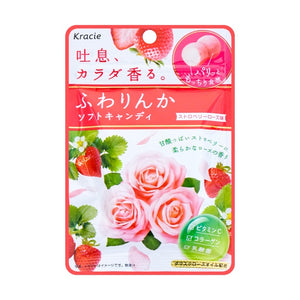 Kracie Fuwarinka Soft Strawberry Rose Candy 32g - Tokyo-On