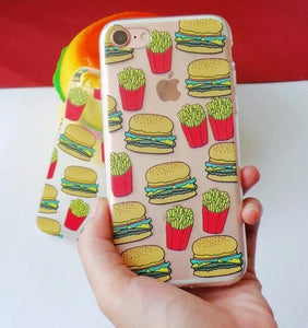 BURGER AND FRIED CASE IPHONE