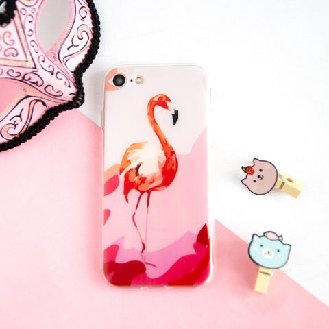 RED ART FLAMINGO CASE