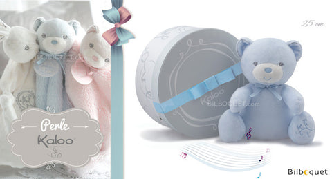 Perle - Musical Doudou Bear (Blue)