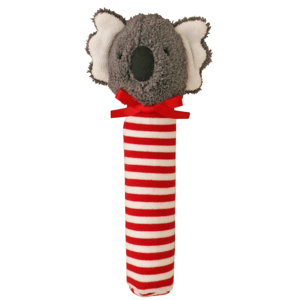 Koala Squeaker (Stripe Red)