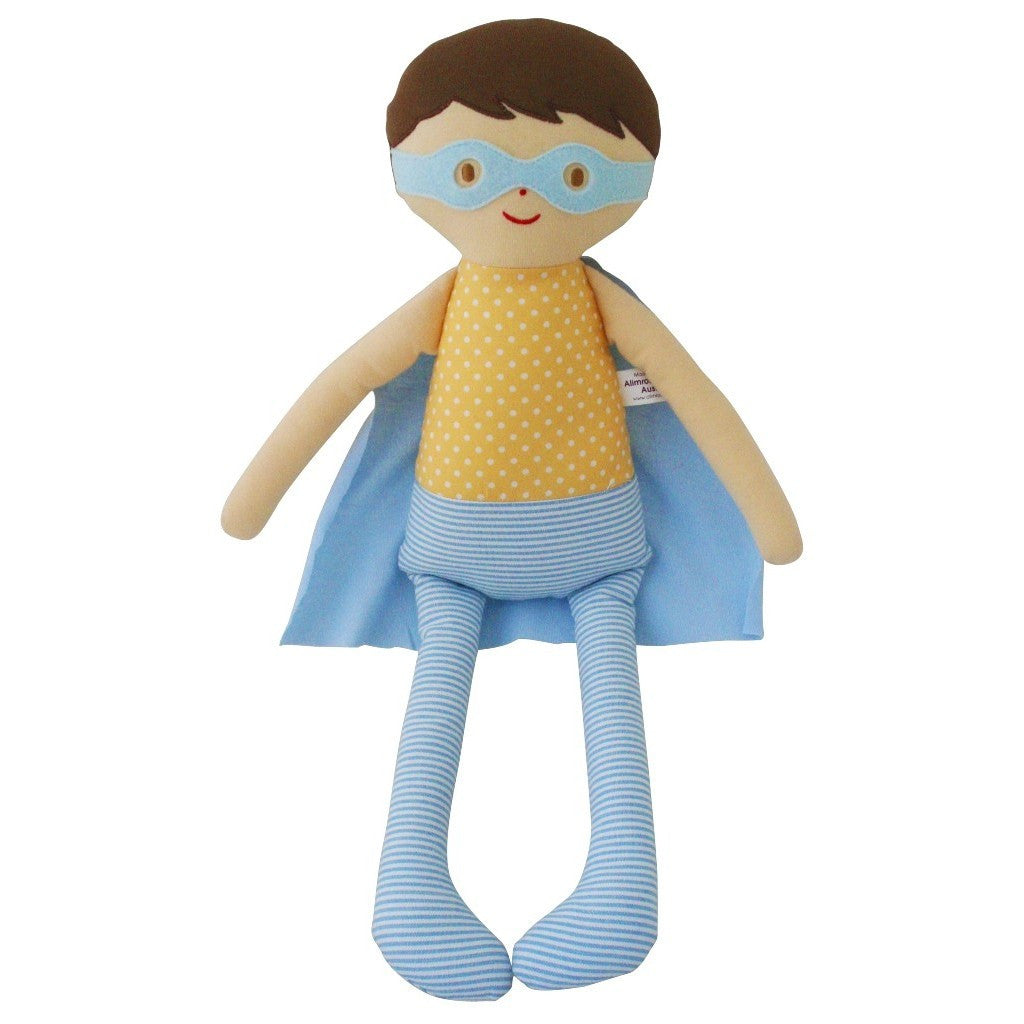 Super Hero Doll (Beige/Teal)