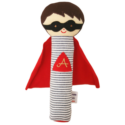 Super Hero Squeaker (Red/Navy)