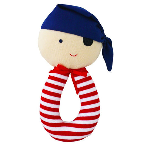 Pirate Grab Rattle (Red)
