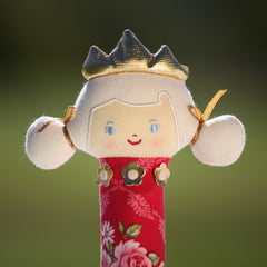 Princess Squeaker (Red Floral)