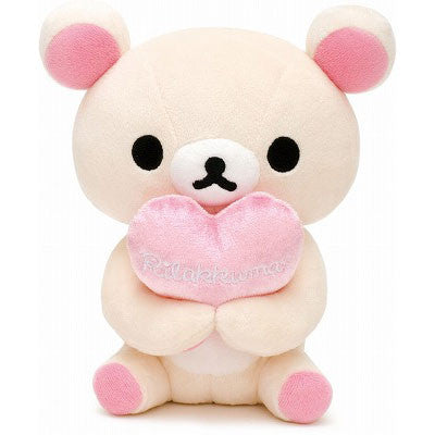 Rilakkuma Plush Cuddly Bear with Heart