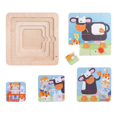 Moo Cow 4-in-1 Puzzle