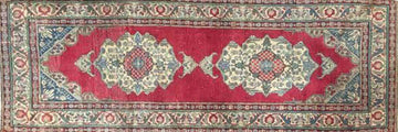 Vintage Turkish Rug 3 x 7'5