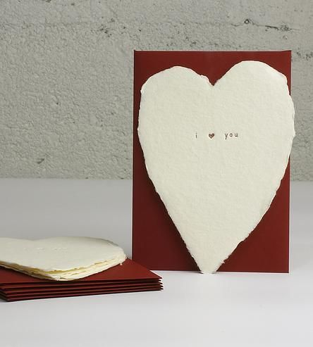 I Heart You Letterpress Cards 6-Pack