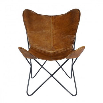 Tackshop Leather Butterfly Chair