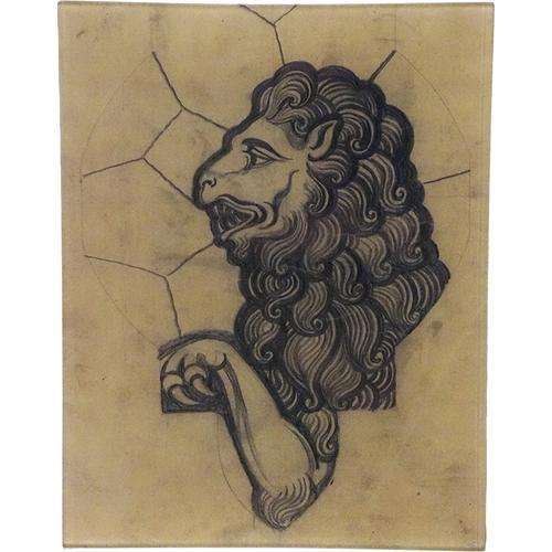 Stained Glass: Lion