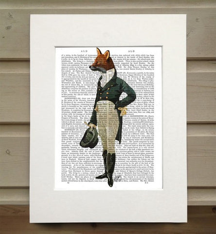 Dandy Fox Book Print